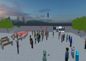 Educators in VR International Summit - Social Event space.