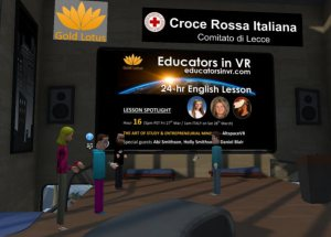 Michael McDonald of Gold Lotus and the Educators in VR 24 Hr English Lesson in VR.