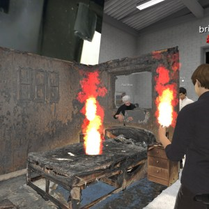 ENGAGE VR workshop with RiVR on building simulations for fire fighters.