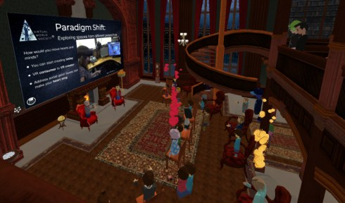 Educators in VR Rental World - Virtual World Society Fireside Chat Library.