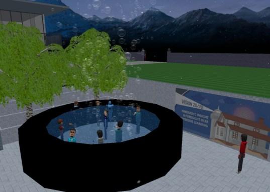 Educators in VR Rental World - EDVR Social Hot Tub