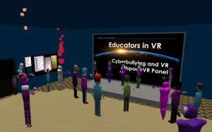 Workshop on Cyberbullying with Educators in VR in AltspaceVR.