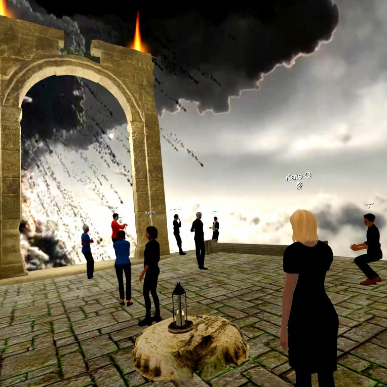 Gold Lotus teaching English Language teaching in VR with history.