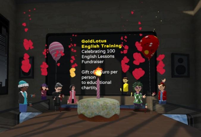 Celebration of Gold Lotus English Language Classes.