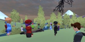 Educators in VR vCoaching and Personal Development event in AltspaceVR.