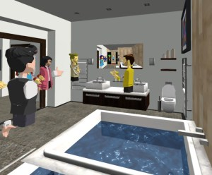 Gold Lotus English Language Class - in the Bathroom - AltspaceVR.