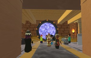 AltspaceVR Traveling through a Stargate between worlds.