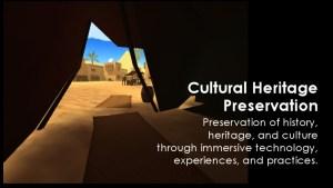 Educators in VR Cultural Heritage Preservation Team