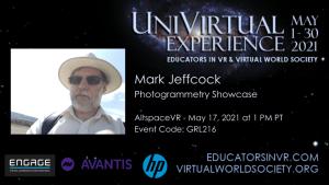 Mark Jeffcock UniVirtual Experience.