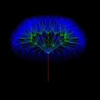 arbol3d 300 13 4 0.58 13 ramas, 4 niveles