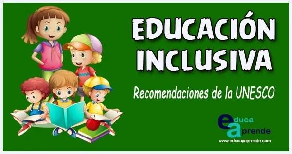 Educación inclusiva, inclusión educativa