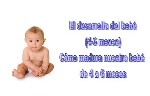 desarrollo del bebe de 4-6 meses