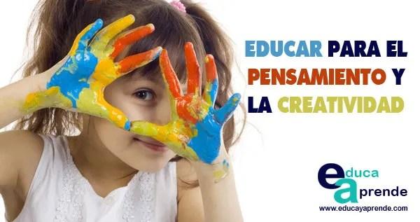 educar para el pensamiento, creatividad