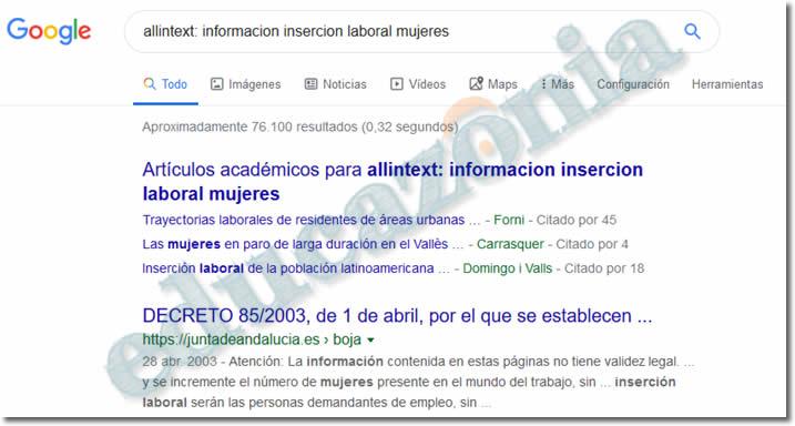 busquedas efectivas en google con allintext