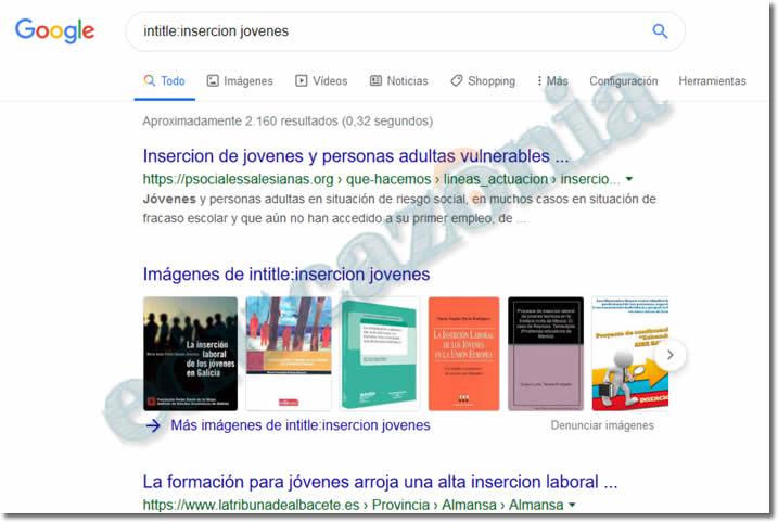 busquedas efectivas en google con intitle