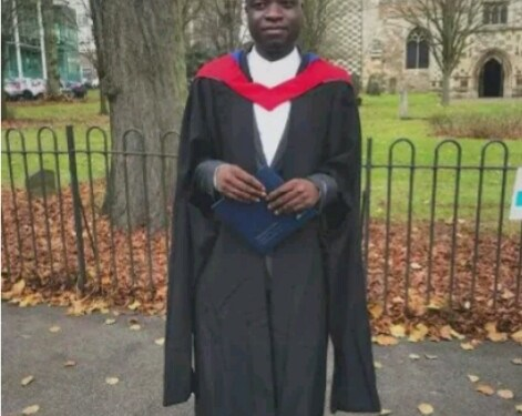 Nigerian man graduates top with distinction at British University