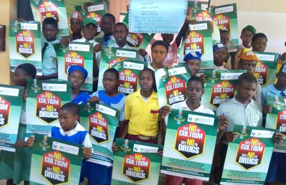 Police takes war against cultism, drug abuse to schools