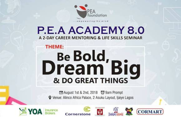 Bank-Olemoh, Onigbinde, others to mentor students at PEA  Academy 2018