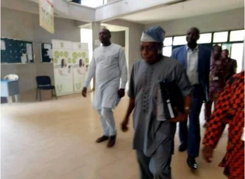 Former Nigerian president, Obasanjo resumes duties as NOUN facilitator