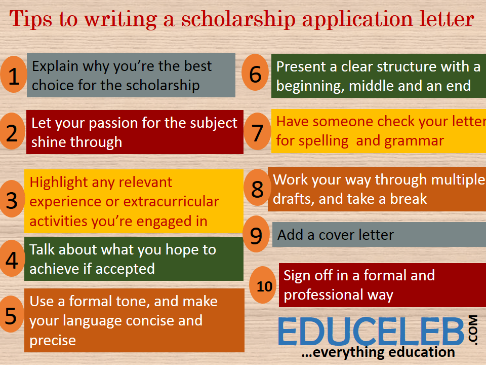 10 tips to writing a scholarship application letter | EduCeleb