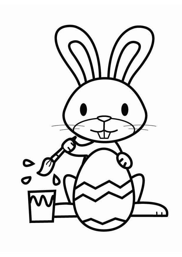 Dibujo Para Colorear Conejo De Pascua  Img 26457