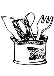 Dibujo para colorear utensilios de cocina Dibujos Para Imprimir Gratis