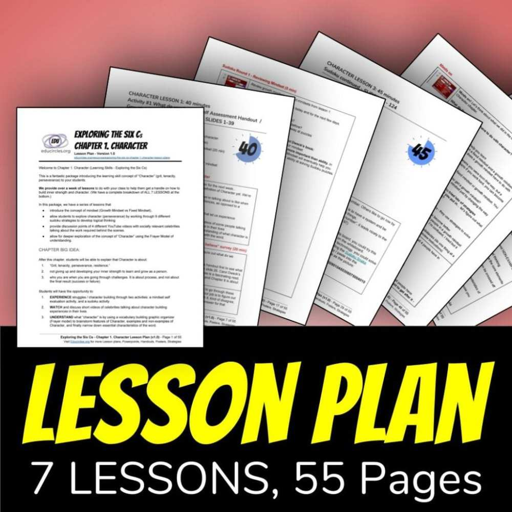 medium resolution of Life Skills Lesson Plans / Character Education Lesson Plans for students