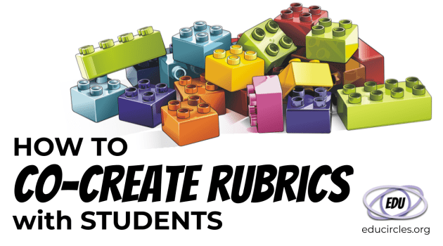 How to Co-Create Rubrics with Students (cover showing building blocks)