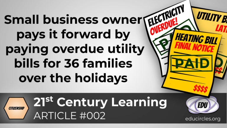 Small business owner pays it forward by paying overdue utility bills for 36 families over the holidays