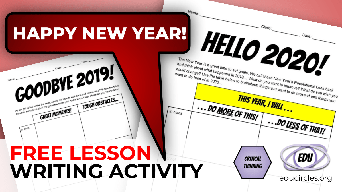 Free New Year S Resolution 2020 Writing Activity Worksheet