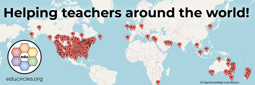 Helping teachers around the world - map of where my lessons have been downloaded