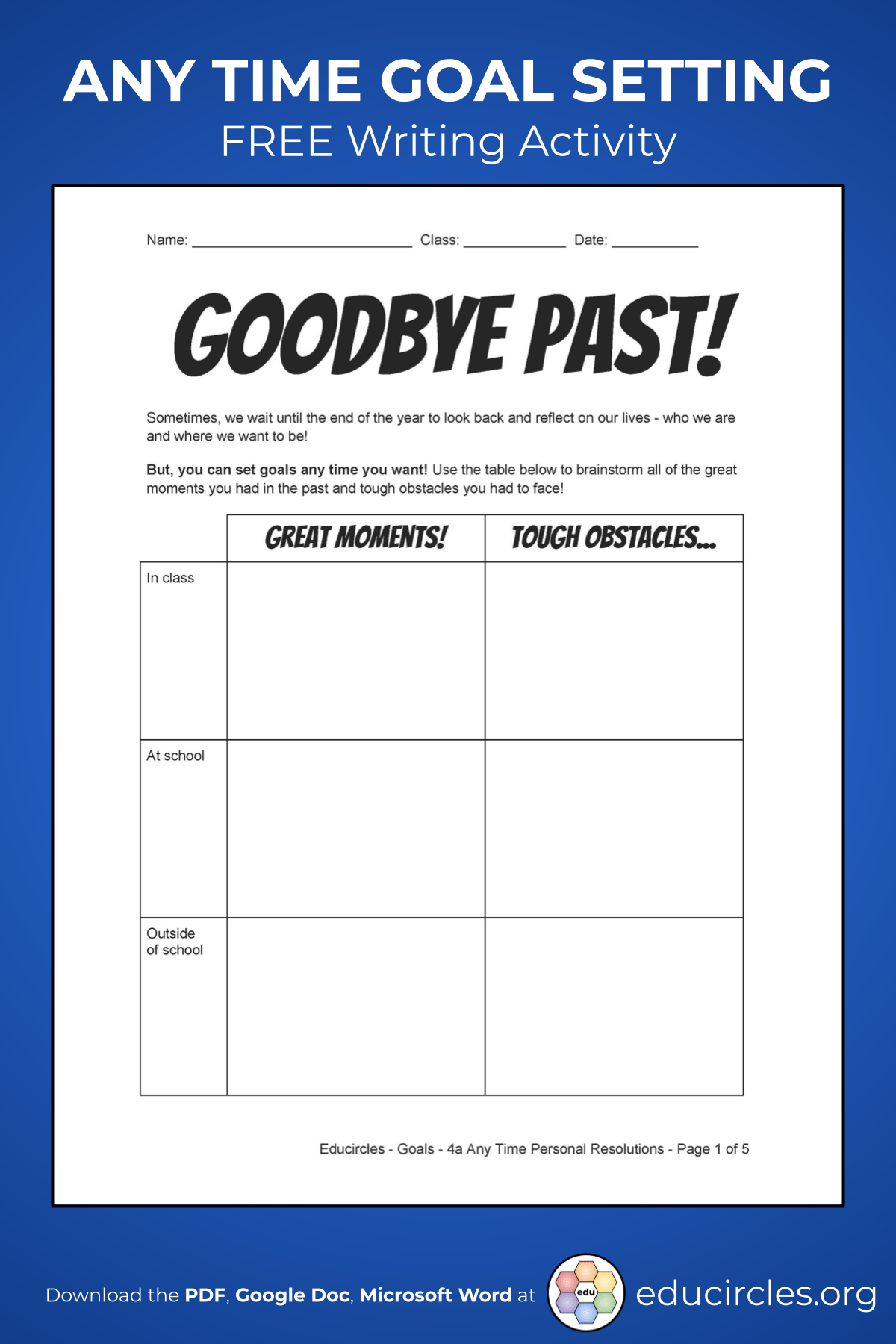 hight resolution of 2021 NEW YEAR'S RESOLUTIONS ACTIVITY WORKSHEET / VIDEO
