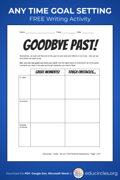 small resolution of 2021 NEW YEAR'S RESOLUTIONS ACTIVITY WORKSHEET / VIDEO
