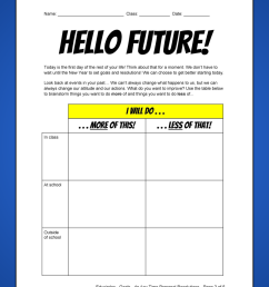 2021 NEW YEAR'S RESOLUTIONS ACTIVITY WORKSHEET / VIDEO [ 1800 x 1200 Pixel ]