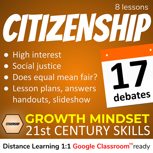 Citizenship Growth Mindset 21st Century Skills product cover