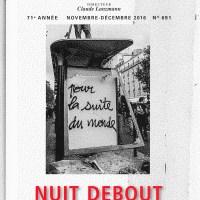 """Autour du numéro des Temps Modernes """"Nuit debout et notre monde"""""""