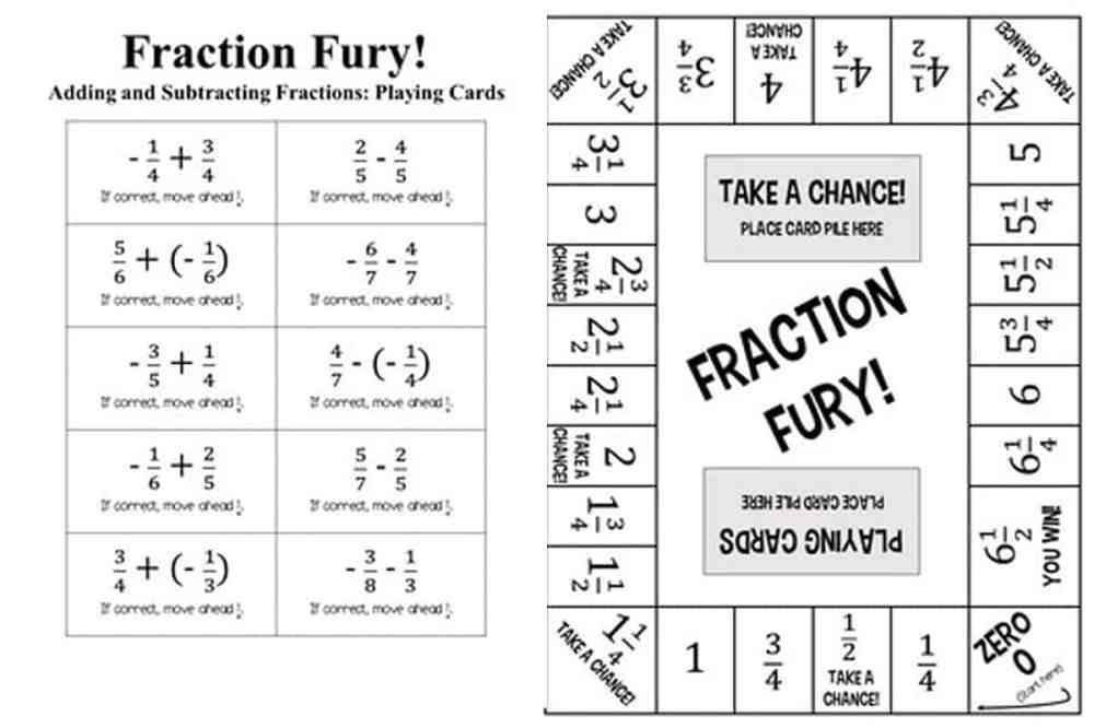medium resolution of 11 Printable Board Games for Adding \u0026 Subtracting Fractions