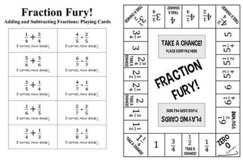 small resolution of 11 Printable Board Games for Adding \u0026 Subtracting Fractions