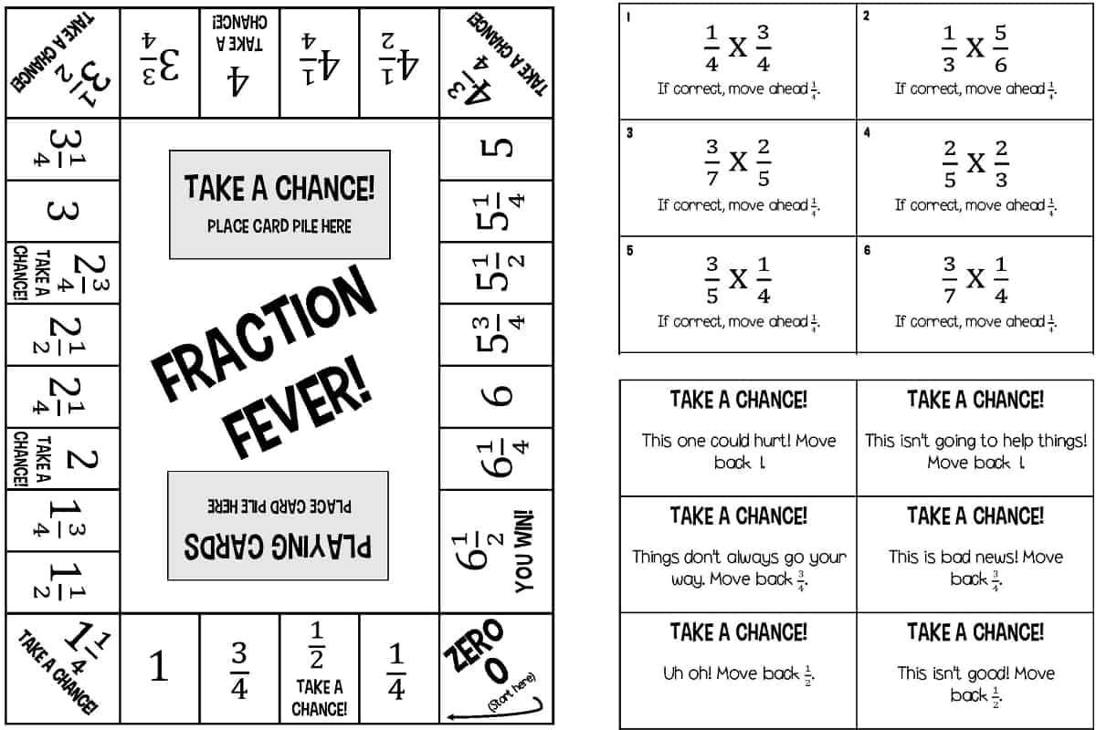hight resolution of 6 Printable Fraction Board Games for Multiplying and Dividing Fractions