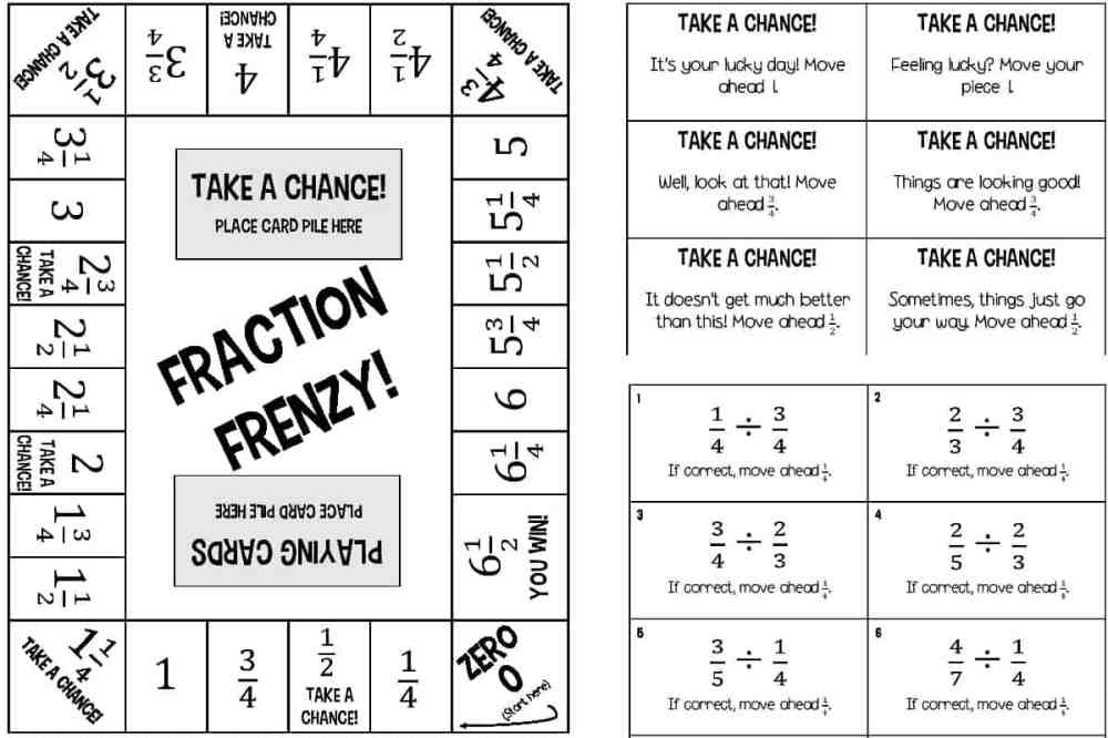 medium resolution of 6 Printable Fraction Board Games for Multiplying and Dividing Fractions