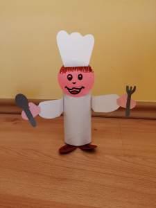 Kucharz - praca plastyczna z wykorzystaniem rolki