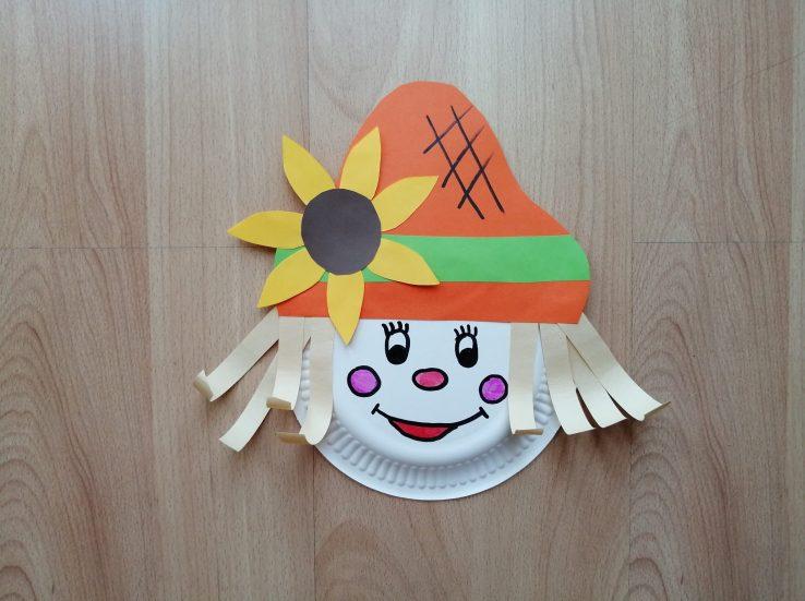 Strach na wróble - praca plastyczna z wykorzystaniem talerzyka papierowego