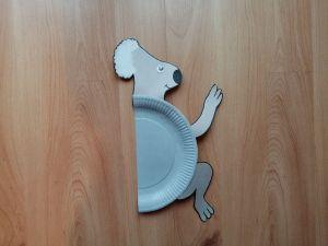 Koala - praca plastyczna z wykorzystaniem talerzyka papierowego