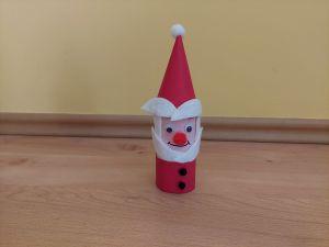 Mikołaj - praca plastyczna z wykorzystaniem rolki