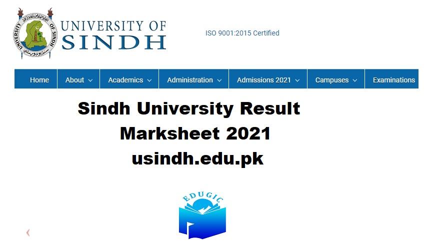 Sindh University Result Marksheet