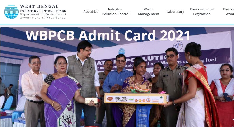 WBPCB Admit Card