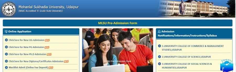 MLSU Admission Portal 2021