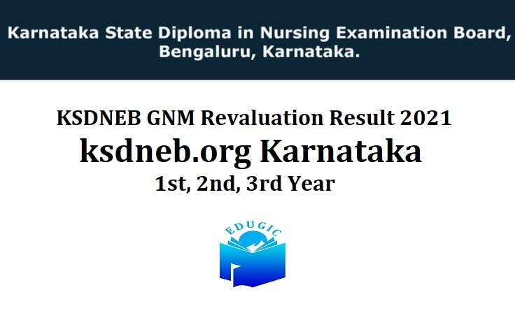 KSDNEB GNM Revaluation Result 2021