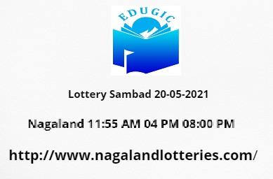 Lottery Sambad 20-05-2021