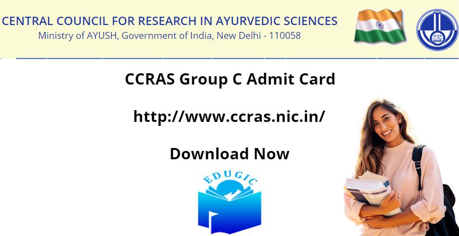 CCRAS Group C Admit Card 2021